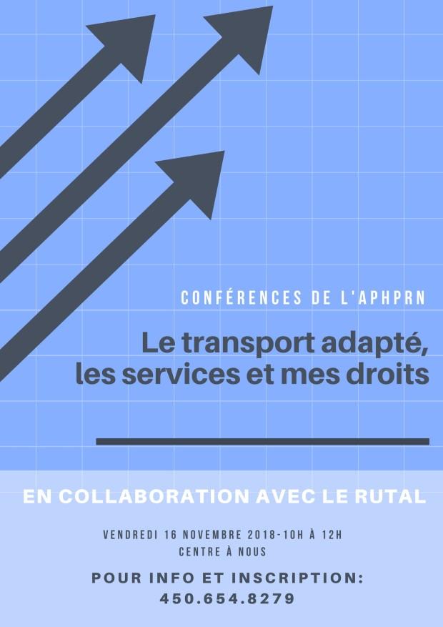 Conférence de l'APHPRN-RUTAL nov 18