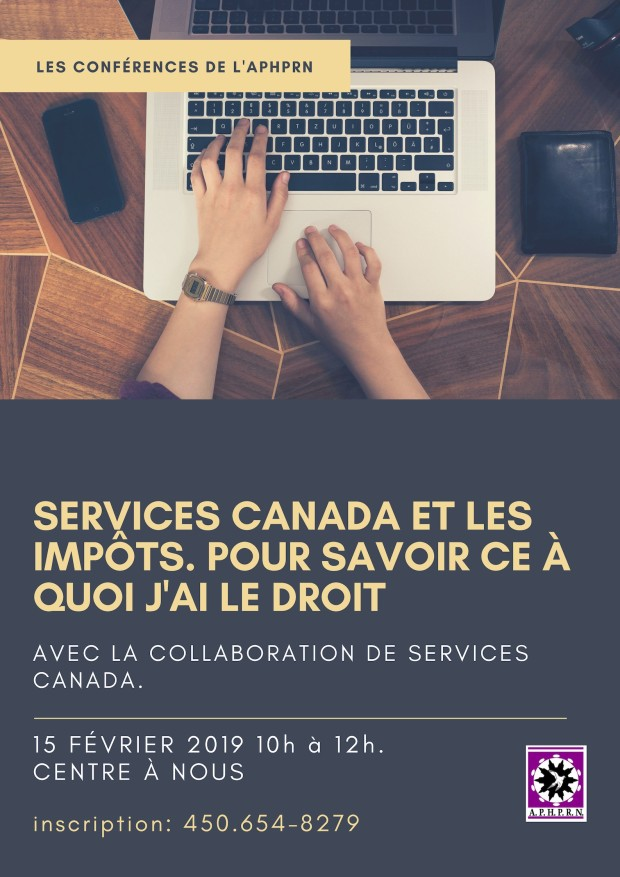 Conférence de l'APHPRN-Services Canada fev 2019