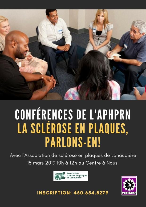 Conférences de l'APHPRN-ASEPL mars 2018